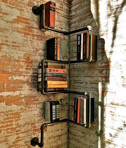 Traditional Bookcases Corner Pipe Corner Bookcase