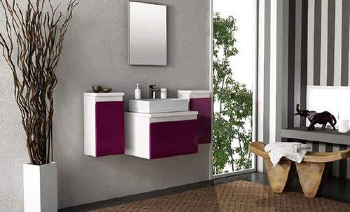 Aubergine-Purple-bathroom'furniture