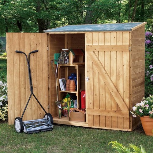 wood garden storage sheds