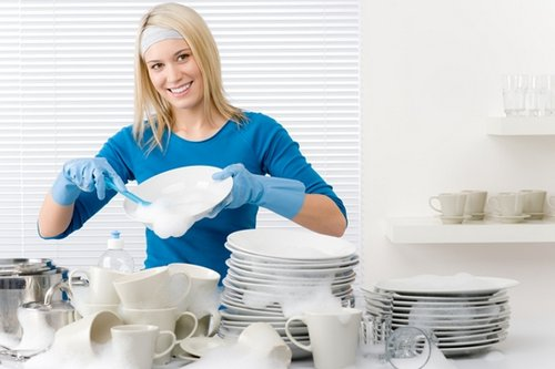 Always Use A Washing Up Bowl U2013 Less Chance Of Breakages. The Water Should  Be Hot But Not Boiling. Some People Wear Rubber Gloves So They Can Wash Up  In ...