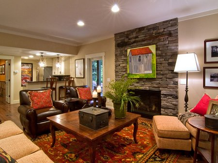 Rearrange your basement into living space - Decoracion rustica de interiores ...
