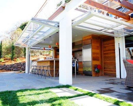 Using of glass garage door in interior design www for Indoor outdoor doors