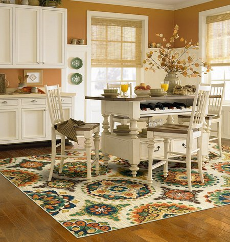 Putting A Rug In Your Kitchen Also Makes Sense For Other Reasons As Well The Case Where Is Used Under Dining Table And Chairs Mentioned Above