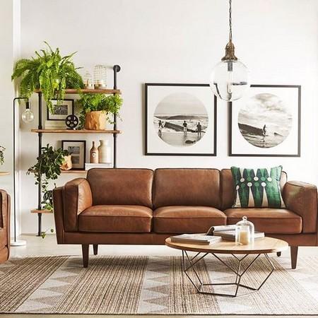 Benefits of leather furniture for Living room designs uk