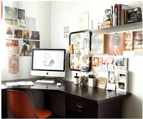 organize your home office. Black Bedroom Furniture Sets. Home Design Ideas