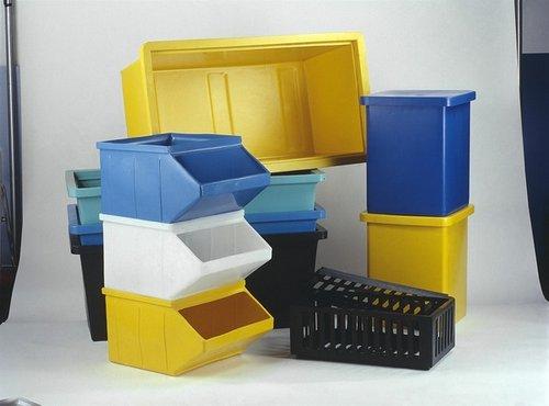 stackable bins 2 - Plastic Stackable Bins